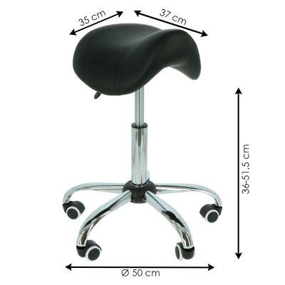 ergolution ergonomic saddle stool measurements