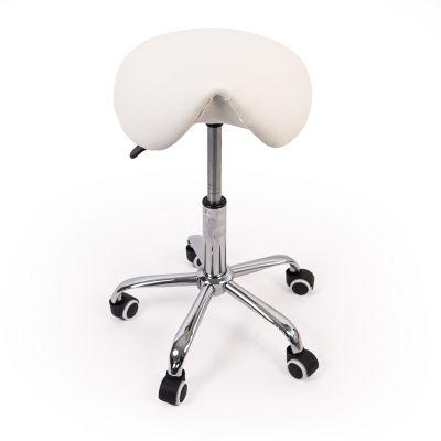 ergonomic saddle stool white