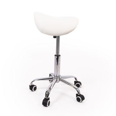 ergonomic saddle stool white side picture