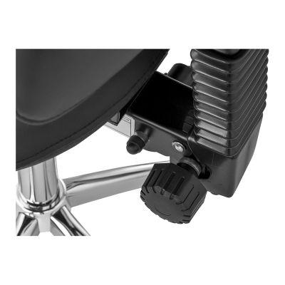 adjustment wheel of the ergolution ergonomic saddle stool with backrest
