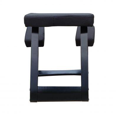 ergonomic kneeling chair black front view