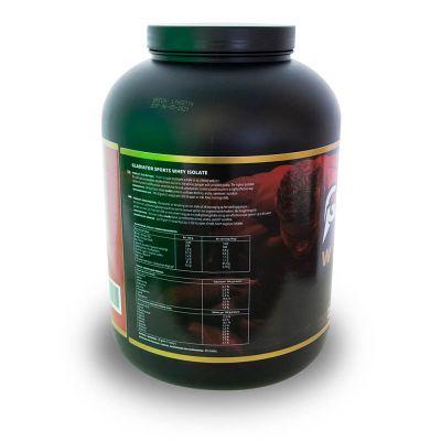 gladiator sports whey protein powder protein shake back view