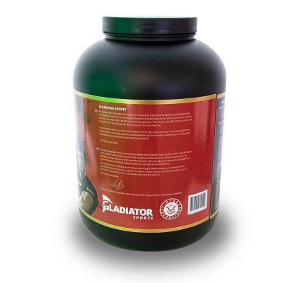 gladiator sports whey protein powder protein shake right side