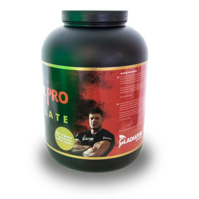 gladiator sports whey protein powder protein shake left side