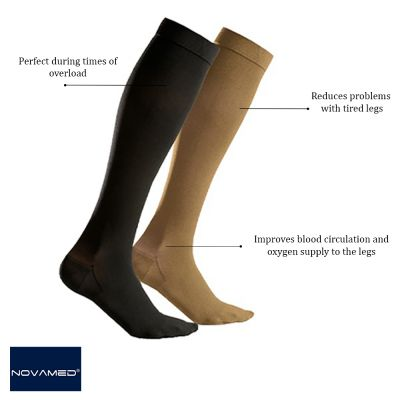 novamed compression stockings closed toe product information