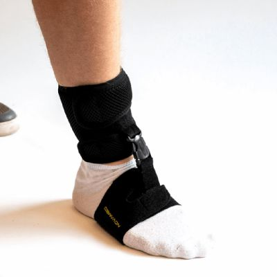 novamed foot drop support shoeless accessory around foot