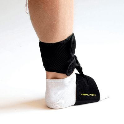 novamed foot drop support shoeless accessory side view