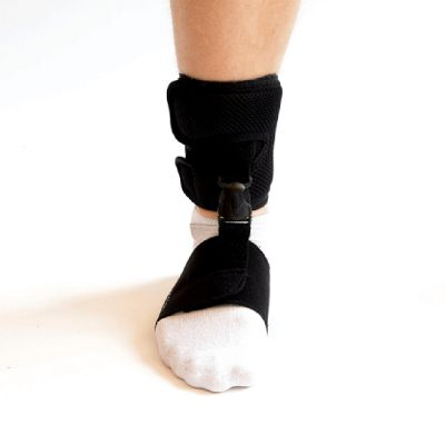 novamed foot drop support shoeless accessory front view