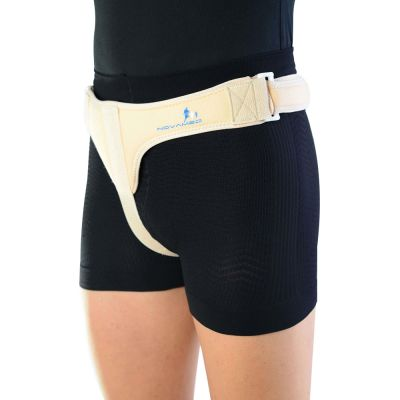 novamed inguinal hernia belt single sided model turned to the side
