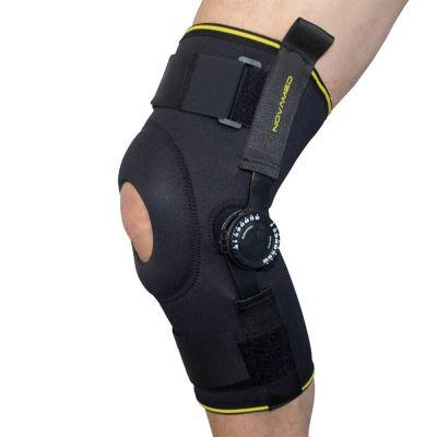 novamed knee support with adjustable hinges left side view