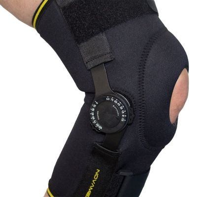 novamed knee support with adjustable hinges right side view