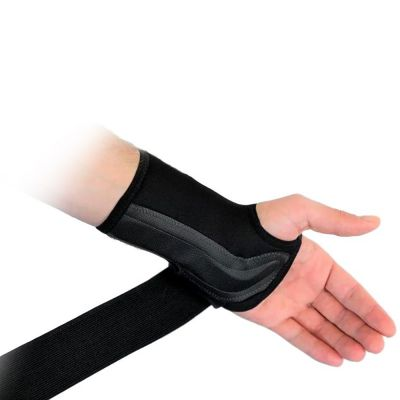 novamed lightweight wrist support with Velcro strap stretched