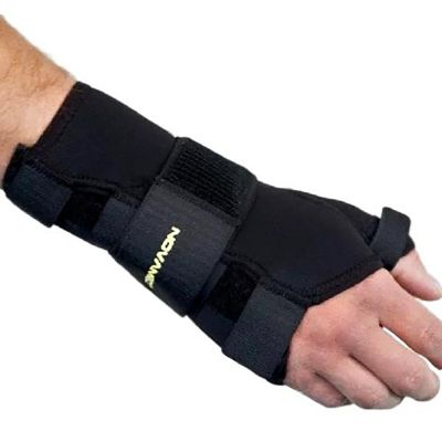 novamed thumb support wrist splint right hand top view