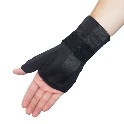 novamed thumb support wrist splint right hand inside view