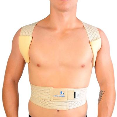 novamed ventilating back straightener posture corrector front view zoomed out