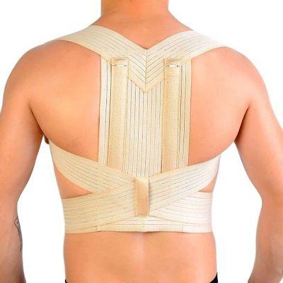novamed ventilating back straightener posture corrector back view zoomed out