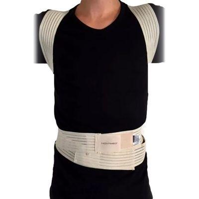 novamed ventilating back straightener posture corrector front side view