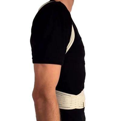 novamed ventilating back straightener posture corrector side view