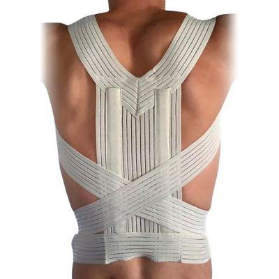 novamed ventilating back straightener posture corrector back view without shirt