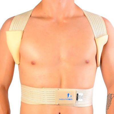 novamed ventilating back straightener posture corrector front view without shirt