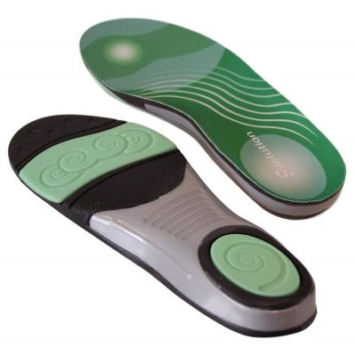 solelution football insoles bottom and top view