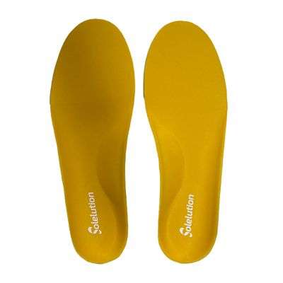 solelution high arch orthotics pair top view