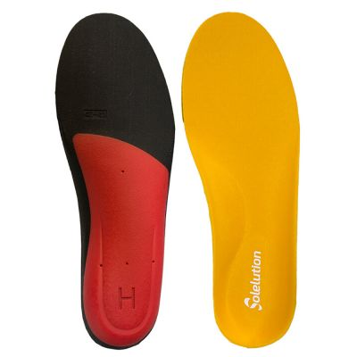 solelution high arch orthotics pair bottom and top view