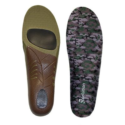 solelution sport outdoor insoles bottom and top view