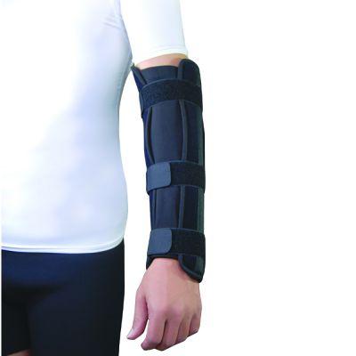 super ortho elbow lower arm splint around left arm