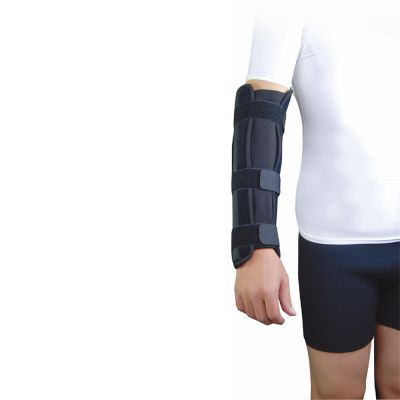 super ortho elbow lower arm splint around right arm